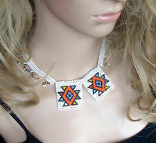 African Zulu beaded jewellery white love letters necklace hand made choker