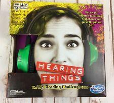 Hearing Things Game Lip-Reading Challenge Hasbro Gaming C3379 Family Game Night