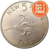 5P GUERNSEY ELIZABETH 2ND CHOICE OF DATE 1971 TO 2012 FIVE PENCE SMALL AND LARGE