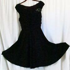 Dress Barn Collections Dress Black 12 Cap Sleeve Sexy