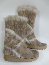 Fur Boots Polar Yeti Wedge Boots Arktis Style 6,5 39,5 fur Vintage New /82