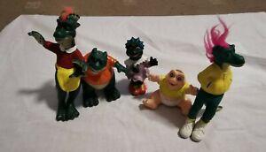 Vintage Jim Hensons Disney Dinosaurs Tv Show  Action Figures set of 5
