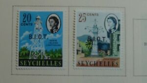 Br. Indian Ocean T. stamp collection on Scott pages w/ 45 or so stamps to 1979