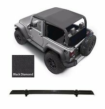 Smittybilt Extended Top & Windshield Channel 2007-2009 2dr Jeep Wrangler JK
