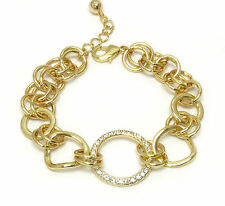 HORSE & WESTERN JEWELLERY JEWELRY CIRCLE OF LIFE GOLD TONE LINK BRACELET