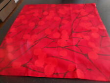 Marimekko Red Lumimarja Pillow Cotton  Fabric Cover  No Insert From Store  NWT