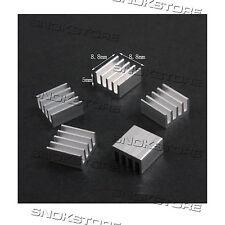 5x   8.8x8.8x5mm HEAT SINK ALUMINUM for memory CHIP CPU DISSIPATORE LED AQUARIUS