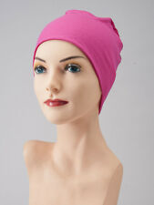 Hot Pink CHEMO CAP Hat Fuchsia LOUNGING SLEEP Cancer Beanie Turban Scarf PRETTY