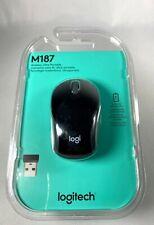 Logitech M187 Wireless USB Scroll Optical Mouse w/Nano Receiver