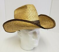 RESISTOL STAGECOACH Straw Western Self Conforming Cowboy Hat Long Oval Size 7