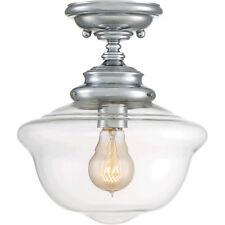 Savoy House 6-9344-1-11 Schoolhouse 1 Light 10'' Polished Chrome Semi-Flush  E10