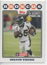 2008 TOPPS KICKOFF SELVIN YOUNG #rd 1349