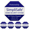 SIMPLISAFE HOME SECURITY YARD SIGN WITH 4 SECURITY STICKERS DECALS BRINKS ADT