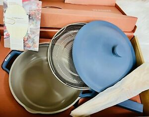 OUR PLACE YOUR EVERYTHING AND ALWAYS PAN WITH SPONGE NEW BUT SCRATCHED!-