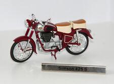 -  ATLAS  -  SIMSON 425 S  -  rot  -  1:24  -  DDR Nostalgie - Motorrad -  NEU