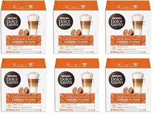 96 Pods Nescafe Dolce Gusto Coffee Capsules Latte Macchiato Caramel Flavor 4/21