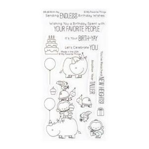 BIRTHDAY CELEBRATION CLEAR Stamp Set by My Favorite Things BB-68 New