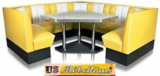 hw-240/240-y American Diner Bench Corner Seat Furniture 50´s Retro USA Style