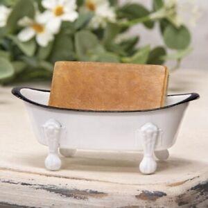 White Iron Bathtub Soap Dish
