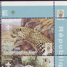 Niger 1998 Scout Pfadfinder + Wildkatzen, Mi.1413-1421 Klbg MNH