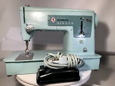 (RARE)  VINTAGE MINT GREEN SINGER 337 SEWING MACHINE (1960's)CY50-60. TESTED