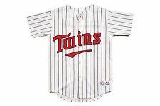 Vintage MAJESTIC Minnesota Twins Stitched White Baseball Jersey Youth Sz. M