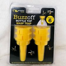 More details for wasp trap pop bottle trap killer pest control fly insect bottle top yellow x6