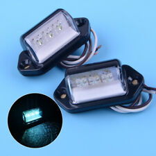 Accessories Light Lamp 2pcs Boat Truck License Number Plate Trailer 3 LED White