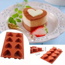 8-Cavity Heart-shaped Silicone Cake Pudding Chocolate Mold Cupcake Baking Pan