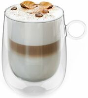 Insulated Double Wall Glass Enjoy a Cup of Coffee Tea Cappuccino Latte Longer