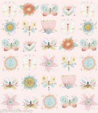 Handarbeitsstoffe aus 100% Baumwolle Meterware-Blumen & Blüten