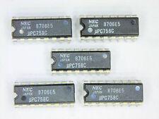 """UPC758C  """"Original"""" NEC  16P DIP IC  5 pcs"""