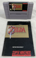 The Legend of Zelda: A Link to the Past (Super Nintendo, 1992) Cart w/ Manual