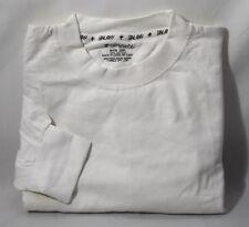 4125b563b77399 White Galaxy Harvic 2XL 2X Mens Tall Long Sleeve Tee Shirt 100% Cotton Urban