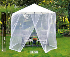Parasol mosquito net GARDEN UMBRELLA fi 3m white