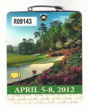 2012 Masters Augusta National Golf Club Badge Ticket Bubba Watson Wins PGA