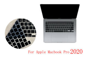 """US Black Soft Keyboard Skin Cover for New Macbook Pro 13"""" inch Touch Bar 2020"""