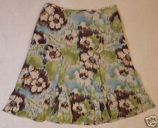 New NWT RQT Petite 10P floral abstract a-line pleated skirt fit & flare
