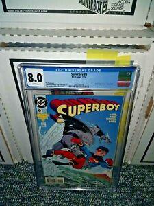 SUPERBOY #9 CGC 8.0 1st Appearance KING SHARK DC Comics 1994 Suicide Squad