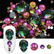 New Fashion Mixed Flame Rainbow Crystal Rhinestones 3D Nail Art Decoration Stone