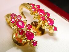 Top  Quality High Karat  21 kt solid Gold 2 Carat  Ruby ladies Post Earrings!