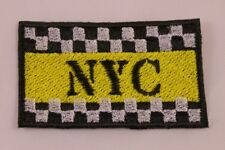 Embroidered Retro Vintage Checkerboard Taxi NYC New York City NY Patch Iron On