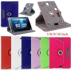 """Universal 360 Leather Stand Case Cover For ASUS ACER DELL GOOGLE 7"""" 10"""" Tablet"""