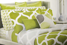 FULL - Apt 9 Terrace Green EURO + STD SHAMS, DRAPES, BEDSKIRT SHEETS & COMFORTER
