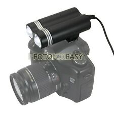 Double Head Video Camcorder DV Hot Shoe LED Light Lamp