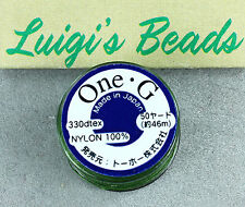 Toho One-G Beading Nylon Thread Green 50 yards