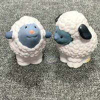 2x doll Fisher Price Little People Farm Barn animals White Sheep figure baby toy