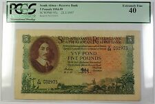 1954-59 21.1.1957 South Africa 5 Pounds Bank Note SCWPM# 97c PCGS EF-40 (A)