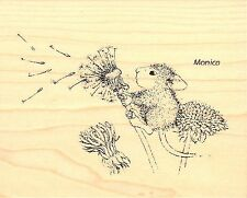 Make A Wish House Mouse Wood Mounted Rubber Stamp Stampendous, New - Hmv13