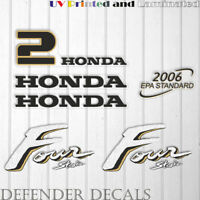 Honda 2hp Four Stroke outboard engine decal sticker set kit reproduction 2 HP